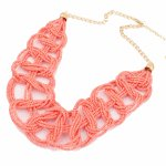 P97294 Pink beads elegance korean choker necklace accessories