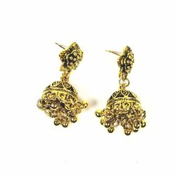 A-SQ-ES0228 Gold Bell Indian Flower Style Earstuds Malaysia