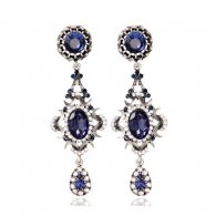 A-MD-E262 Dark Blue Elegant Classy Fashion style Earrings