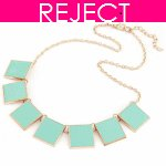 RD0184-Reject Design RD0184- Green square choker necklace