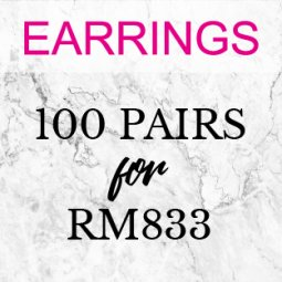 Earrings - 100 Pairs ( Choose Any 100 Earrings Designs)