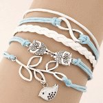 C09061545 Pigeon owl blue friendship bracelet accessories shop