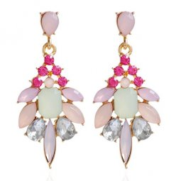 A-HY-E031 Spring Colourful Spike Flora Earstuds Accessories