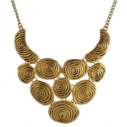 A-H2-X553 Vintage round layer vintage statement necklace malaysi