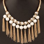 C11050476 Pearll shiny annual dinner statement necklace shop
