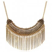 A-SJQ-A008 Vintage Spike Dangling Moon Choker Necklace