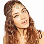 P105193 Hair chain gold elegance hair accessories shop