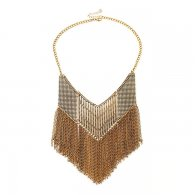 a-FG-XL27-169 Classic Gold Triangle Shape Statement Necklace