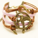 C13091002 Pink Hunger game friendship bracelet accessories