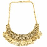 C11052687 Vintage dangling moon korean statement necklace