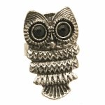 Punknown92 Antique silver owl korean chunky ring accessories