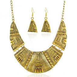 A-SJQ-N018 Vintage Moon Elegant Dinner Statement Necklace