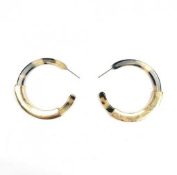 A-SD-XL0078(a) Black Marble With Light Yellow Earrings Malaysia