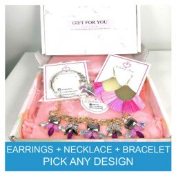 Earrings + Necklace + Bracelet Gift Set