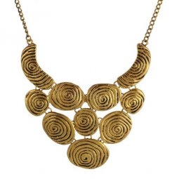 A-H2-100X553 Vintage Round Dangling Statement Necklace Shop