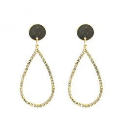 A-LG-ER0279(D) Trendy Korean Style Crystal Oval Earstuds