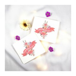 A-LH-EFORYOU Pink Especially For You Illustrated Flowers Cards