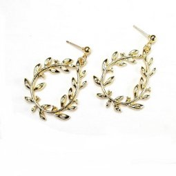 A-TT-UK-8 gold waterdrop flower earstud earrings malaysia