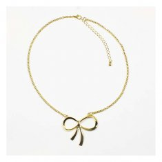 a-OSD-20150627Rib Golden Ribbon Metal Charm Statement Necklace