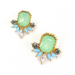 A-GH-G1 Korean Mini Elegance Mint Green Resin Fashion Earrings