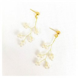 A-MDD-E1772 Pearl Grapes Inspired Korean Elegance Earrings Shop