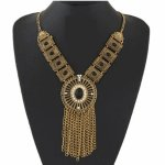 C0150628159 Vintage black bead crystals necklace