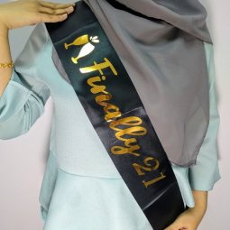A-PT-UK6 Party Sashes Finally 21 Black Theme Party Malaysia