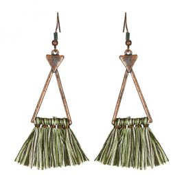 A-KJ-E020416b Vintage Triangle Bohemian Dinner Tassel Earrings