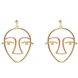 A-SD-XL0764gold Korean Trendy Golden Big Nose Face Earstuds