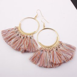 A-SD-SL218colour5 Spring Colourful Tassels Round Bohemian Hook E