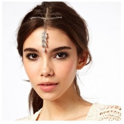 A-SQ-FS0020 Silver Indian Arabian Style HairClip Malaysia