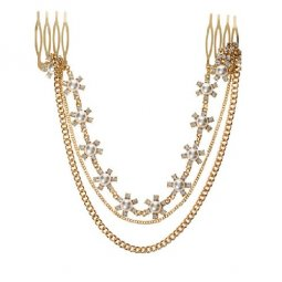 A-H2-105F009 Gold Three Layer Leave Wonderful Headchain
