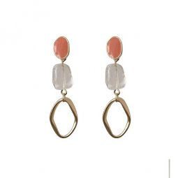 A-TT-C685 Pink Pearls Korean Earring Malaysia Trending