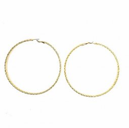 B-MLSF-A715 Gold Elegrant Style Super Big Round Circle Earstuds