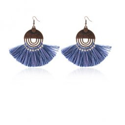 A-HH-HQEF-258 blue circle tassel earring malaysia