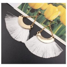 A-SD-XL0464white Tangling White Tassel Earstuds Wholesale