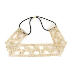 A-JW-8135pearl Victorian Maiden Style Pearl Lace Headchain Fash