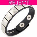 RD0168 Reject Design - Black belt silver bead korean bracelet