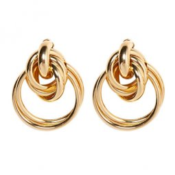 A-FX-E3199 Korean Trendy Dangling Golden Circles Earstuds Shop