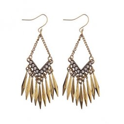 A-DW-HEA012 Spikes Funky Diamonds Korean Style Hook Earrings