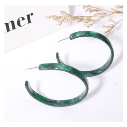 A-LG-ER0215(green) Jed Green Korean Style Earstuds Wholesale