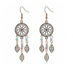 A-H2-200e462 Gold Vintage Dream Catcher Earrings Malaysia