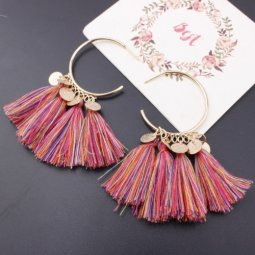 A-SD-EH525colour2 Colourful Moon Charms Tassel Earstuds