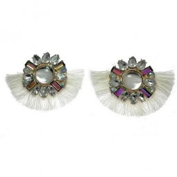 A-SP-EH004 -2 White Classic Diamond Statement Earstuds