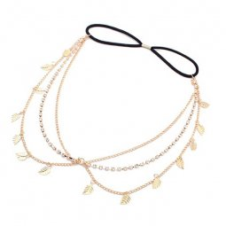 A-GH P99066 Leaves dangling hair headband accessories malaysia