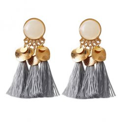 A-DW-5300grey White Pearl Tassel Earrings Malaysia