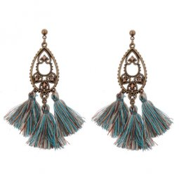 A-DW-HQE520green Heart Crystals Green Tassel Earstuds Malaysia