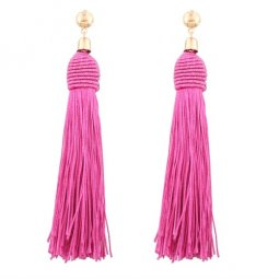 A-QD-E0790pink Pink Tassel Dinner Wholesale Earstuds Malaysia