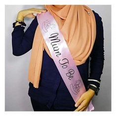 A-AP-LPP4080pink Mum To Be Wording Pink Party Sashes Selempang