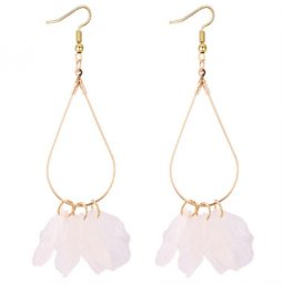 P131117 Matt Transparent Seashell Korean Inspired Hook Earrings